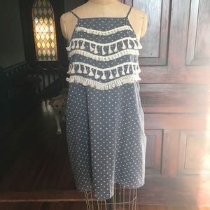 Ellison brand boho tassel dress LARGE EUC